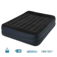 Intex Matelas gonflable électrique Deluxe Rest Bed 2 places FiberTech 152x203x42
