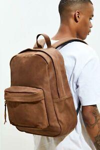 JANSPORT Superbreak Leather Vintage Backpack- NWT!- VERY RARE