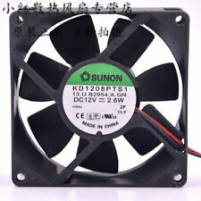 SUNON Chassis power supply cooling fan KD1208PTS1 DC12V 2.6W 2wire 80*80*25mm