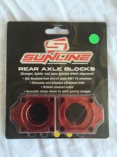 Sunline Rear Aluminum Axle Adjuster Blocks KX KXF 250 04-07 RMZ 250 04-07