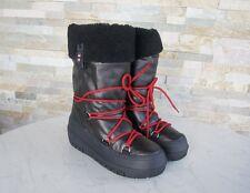 Napapijri Gr 35,5 Botas Piel Nieve Winter Zapatos Bella Negras Nueva