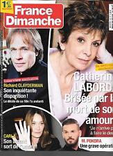 FRANCE DIMANCHE N° 3632--CATHERINE LABORDE/RICHARD CLAYDERMAN/CARLA BRUNI