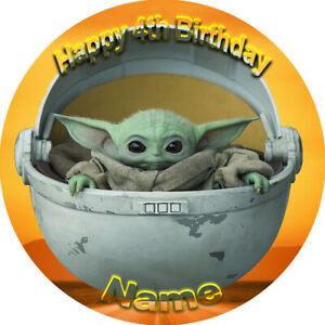 Mandalorian Baby Yoda  REAL EDIBLE ICING CAKE TOPPER PARTY IMAGE FROSTING SHEET