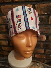 Snoopy Patriot Handmade Surgical Scrub Caps