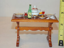 Reutter Table Soup Wine Bread Prep Dollhouse Miniatures Kitchen Room Box RETIRED