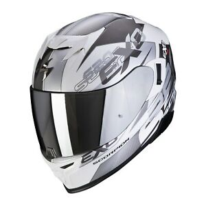 Scorpion EXO-520 Air Cover Motorcycle Helmet White-Silver Size L