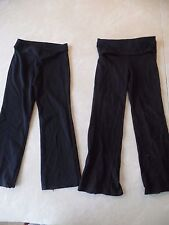 2 pair GIRLS PANTS black yoga MOTION WEAR DANSKIN dance STRETCHY size 4 5 6 lot