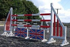 5 Pairs 5ft Horse show Jumps complete with Poles & Fillers Competition Spec (K)
