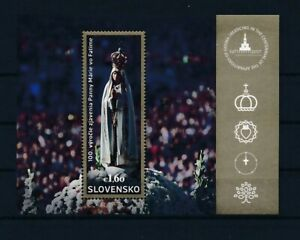 D151402 Slovakia S/S MNH Religious Art Our Lady of Fatima