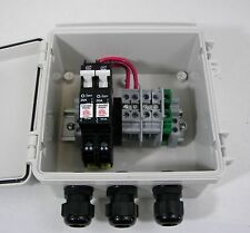 Solar Combiner Box 2-String with 15A Circuit Breakers & Lightning/Surge Module