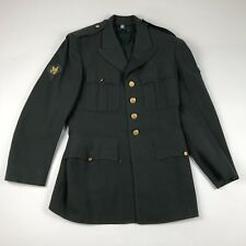 Vintage ARMY Military Coat Blazer Size 39 Regular Mens Green Wool Iron Fist