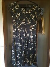 Revival Black Bamboo Dress Size 14 Dangerfield Pinup Vintage