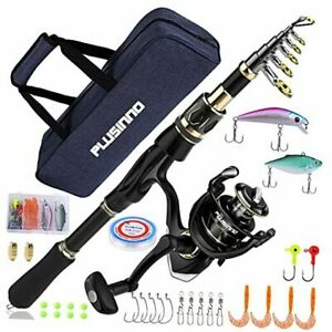 Fishing Rod and Reel Combos 1.8m 5.91Ft Full Kit with Carrier Case