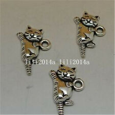 20pc Tibetan Silver CAT Charm Beads Pendant Findings wholesale PL526