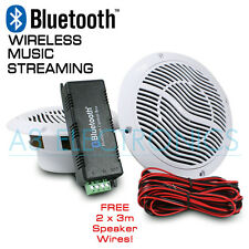 Bluetooth Ceiling Speaker Kit Bathroom Kitchen Sound System With FREE 2x3m Cable