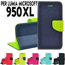 Custodia per Lumia Microsoft 950XL Libro Portafoglio chiusura magnetica P.tesser