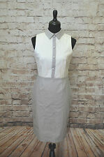Modcloth Italian Soda stop Dress NWT sz 6 (fits MC size 8) ivory/grey Paper Doll