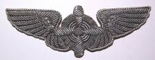 WW2 AAF Flight Engineer Bullion Wing Flight Badge - Army Air Forces - PS