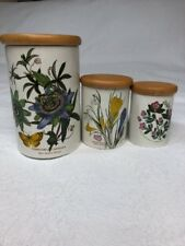 Portmeirion The Botanic Garden Circa 1818, Set Of 3 Canisters Made In England