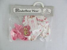 """VanderBear Wear Heart Romper Muffy Collection Bear 7"""" Clothing New NABCO"""