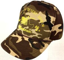 Operation Desert Storm WI Vintage Camo Hunting Military Veteran 1990s hat/Cap