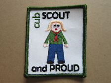 Cub Scout And Proud Cloth Patch Badge Boy Scouts Scouting L3K D