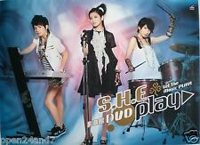 """S.H.E. """"DVD PLAY"""" MALAYSIA PROMO POSTER -Mandopop Music,HK Girl Group In Concert"""