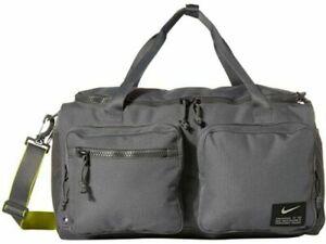 Nike Utility Power Training Duffle Bag Iron Grey Gym Fitness CK2792-068 NEW NWT