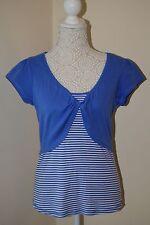 Love Cotton collection top. Size 14. Bolero over vest all in one. Cornflower.