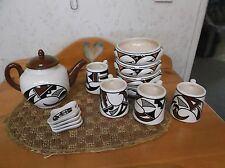 Vintage Hopi Indian Pottery Collection Signed Pentura also R. Burton Collection