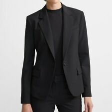 Theory Black Gabe B Tailor Wool Blazer Jacket Size 2