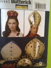 Butterick Sewing Pattern 5441 Misses Mens Bishop Hat Headpiece Size One Uncut