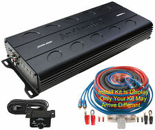 New listing Apmi1500 Audiopipe 1500 Watt Small Space Mono Block/1Ch Amplifier w-Install Kit