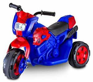 Kid Trax Toddler Marvel Spider-Man Electric Motorcycle Ride On Toy Kids 1.5-3...