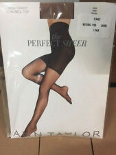 Ann Taylor The Perfect Sheer Modern Control Top Tights Natural, Large MSRP $25