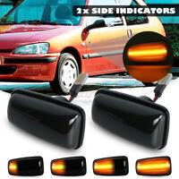 Dynamic Amber LED Side Indicator Light Repeater For Peugeot 106 306 Fia