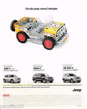 PUBLICITE ADVERTISING 065  2009  MECCANO   jeux joeuts  LA JEEP