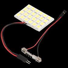 White Light Panel 24 5050 SMD LED + Festoon Dome Bulb Adapter S7O6