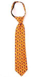"Marvel Spider-Man Yellow Silk Zipper Tie For Boys 14"" NWT Free Shipping"