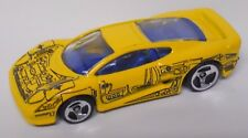 1999 Hot Wheels X-Ray Cruiser Series Jaguar XJ220 #948-Yellow Paint