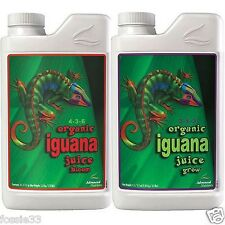 Advanced Nutrients - Organic Iguana Juice Grow and Bloom 1 Litre Pack