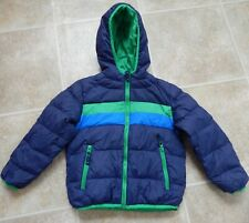 Snozu boys' down jacket/puffer Blue/Green EUC 5