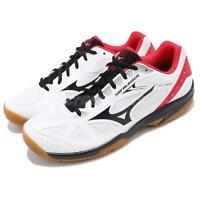 Mizuno Sky Blaster White Black Red Gum Men Badminton Volleyball Shoe 71GA1945-09