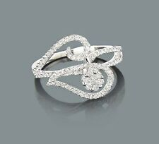 Diamant Ring Goldschmuck 14 Karat 585er Weißgold 0,58 Karat Wesselton weiß Neu