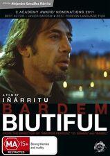 Biutiful (DVD, 2011) // subtitles // category stickers on sleeve
