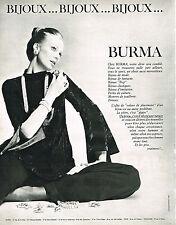 PUBLICITE  1970   BURMA    joaillier bijoutier