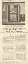 1920s antique SAFE Cabinet FIRE PROOF Safety BUSINESS Security Marietta OH Ad