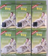 """6 PACK EMERGENCY BAG-WIND & WATER PROOF REFLECTS HEAT TO BODY AND HEAD 36""""X 84"""""""