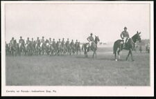 INDIANTOWN GAP PA Army Base Camp Cavalry Parade Vtg PC