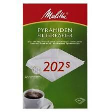 Melitta Pyramiden Filterpapier 202 S - Filtertüten 10 x 100 Kaffeefilter